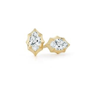 446f1d2ff Jade Trau 18K Yellow Gold Forevermark Marquis Stud Earrings - 140-12285 |  Hudson Poole Fine Jewelers