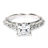 Verragio Venetian Collection 18K White Gold Diamond Semi-Mount Engagement Ring (AFN5010P1GLD)
