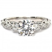 18K White Gold And Diamond Semi-Mount Engagement Ring (INS7074R-GOLD)