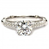 14K White Gold And Diamond Semi-Mount Engagement Ring (D103S0GOLD)