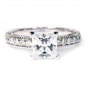18K White Gold Diamond Semi-Mount Engagement Ring by Verragio (AFN5001P3GD)