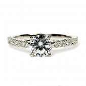 Martin Flyer 14K White Gold and Platinum Diamond Semi-Mount Engagement Ring Flyer Fit