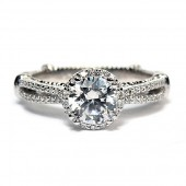 Verragio Parisian Collection 14K White Gold Diamond Semi-Mount Engagement Ring (D110R0)
