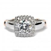 Verragio Parisian Collection 14K White Gold Diamond Semi-Mount Engagement Ring (D133CU0GOLD)