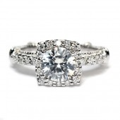Verragio Parisian Collection 14K White Gold Diamond Semi-Mount Engagement Ring (D123CU)