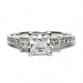 Verragio Insignia Collection 18K White Gold Diamond Semi-Mount Engagement Ring (INS7067)