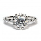 Verragio Insignia Collection 18K White Gold Diamond Semi-Mount Engagement Ring (INS7079)