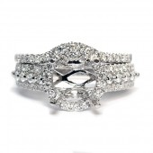 18K White Gold Two Piece Diamond Wedding Set