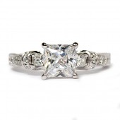 Scott Kay 14K White Gold Diamond Semi-Mount Engagement Ring