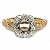 Two-Tone Diamond Semi-Mount Engagement Ring