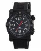 Reactor Titan Black Watch with Nylon and Rubber Strap