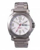 Reactor Fermi Stainless Steel Watch with White Dial