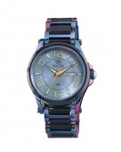 Reactor Crystal Ionized Stainless Watch with Blue MOP Dial and Stainless and Ceramic Bracelet