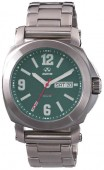 Reactor Gents Fermi Stainless Steel Watch with Matte Clay Green Dial
