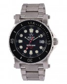 Reactor Gents Polaris Stainless Steel Watch with Black Dial