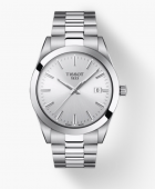 Tissot Stainless Gentleman Watch with Silver Dial 40mm