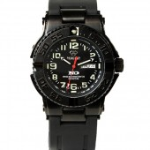Reactor Trident Black Stainless Steel Watch