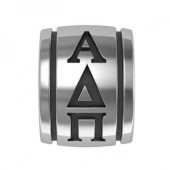 Alpha Delta Pi Sorority Sterling Silver Barrel Bead