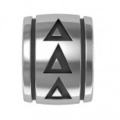 Tri Delta Sorority Sterling Silver Barrel Bead