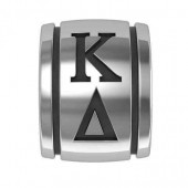 Kappa Delta Sorority Sterling Silver Barrel Bead
