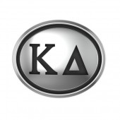 Kappa Delta Sorority Sterling Silver Oval Bead