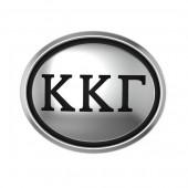 Kappa Kappa Gamma Sorority Sterling Silver Oval Bead