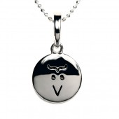 Sterling Silver Emoticon Pendant / Charm