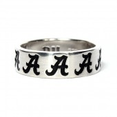 Sterling Silver University Of Alabama Spirit A Ring