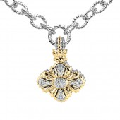 Vahan Sterling Silver and 14K Yellow Gold Diamond Enhancer Pendant