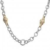 Vahan Sterling Silver and 14K Yellow Gold 18-inch Link Chain
