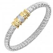 Alwand Vahan Sterling Silver and 14K Yellow Gold Diamond Bracelet (6mm)