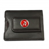 University of Alabama Brown Leather Magnetic Money Clip