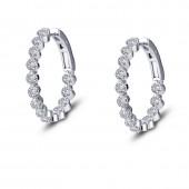 3.08 ct tw Hoop Earrings