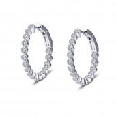 1.7 ct tw Hoop Earrings