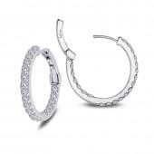 1.6 ct tw Hoop Earrings