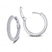 2.16 ct tw Hoop Earrings