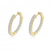 1.8 ct tw Oval Hoop Earrings