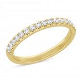 14K Yellow Gold Diamond Band