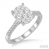 14K White Gold 0.75 CTW Diamond Lovebright Ring