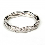 Platinum Ladies Diamond Wedding Ring