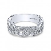 14K White Gold 0.31CTW Diamond Stackable Band
