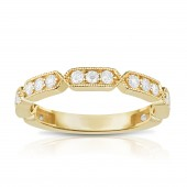 14K Yellow Gold 0.49 CTW Diamond Stackable Band