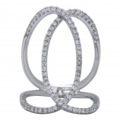 18K White Gold 0.62 CTW Diamond Freeform Ring