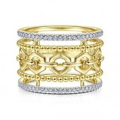 14K Yellow Gold 0.27 CTW Diamond Ring