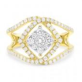 14K White and Yellow 0.80 CTW Diamond Ring