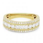 14K Yellow Gold 0.73 CTW Diamond Ring