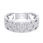 14K White Gold 0.39 CTW Diamond Stackable Band