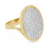 14K Yellow Gold 0.95 CTW Diamond Ring
