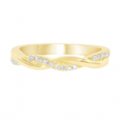 14K Yellow Gold Diamond Infinity Stackable Band