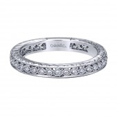 14KW .11CTW Diamond Stackable Band